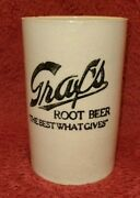 """Rare Graf's Root Beer """"the Best What Gives"""" Pottery Mug – 4¾"""" Tall"""