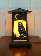 Old California Lighting Pedestal Lamp Owl Large Mission/arts And Crafts