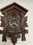 German Fores Cuckoo Clock For Parts Or Repair No Pendulum,topper Or Weights