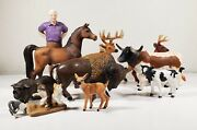 Farm Life Animal Toy Large Lot Collectible Figures Schleich Safariretired 10