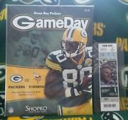 2008 Aaron Rodgers 1st Start Game Program And Club Leve Ticket Green Bay Packers