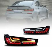 Led Dark/red Tail Lights Assembly For 2019-2021 Bmw 3 Series G20 Rear Lamps