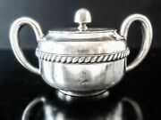 Silver Soldered Us Navy Sugar Bowl Fouled Anchor Wardroom Officer's Mess Usn R W