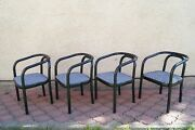 Vintage Set Of 4 Dinning Chairs Style Of Otto Wagner Ton / Thonet