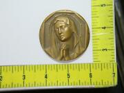Weeping Virgin Mary Our Lady's Immaculate Heart Rev Becker Bronze Table Medal⭐🌈