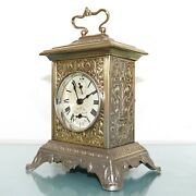 Japy Freres Musical Alarm Mantel Top Clock Fully Restored Antique Carriage Rare