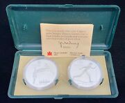 1988 Canadian Calgary Olypmic Winter Games Sterling Silver Skiing