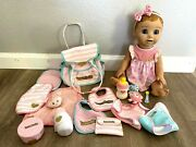 Luvabella Doll Lot Accessories Toys R Us Pack Blonde Baby Interactive Read