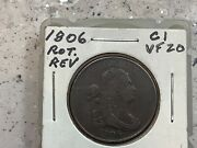 1806 Half Cent Grand Pa's Collection Neat Reverse Rotation, Don't Miss