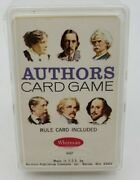 Vintage Whitman Western Publishing Co Authors Card Game In Original Case