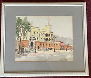 Herbelot French Lithograph 15 X 13