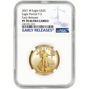 2021 W American Gold Eagle Type 2 Proof 1/2 Oz 25 Ngc Pf70 Ucam Early Releases