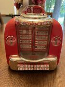 Coca Cola Musical Bank Tabletop Jukebox, Preowned, With Box