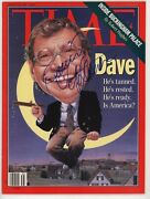 David Letterman Signed Autograph Time Magazine Cover Rare Late Night Host Comedy