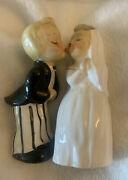 Vintage Holt Howard Kiss Bride And Groom Salt And Pepper Shakers Very Rare S689