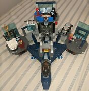 Lego Marvel Hulk's Helicarrier Breakout 6868 Incomplete + Extra Minifigures