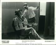 1990 Press Photo Sweet And Lowdown Director Woody Allen And Sean Penn