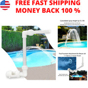 Swimming-pool Fountain Sprinkle Accessories Waterfall Above In-ground Pool