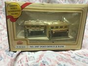 Model Power 2587 Post Office And Bank – Built Up Building – N Scale – New