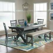 Chester 6-piece Rustic Farmhouse Dining Set