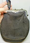 And Co Victorian Chatelaine Sterling And Leather Purse Bag Senior House Maid