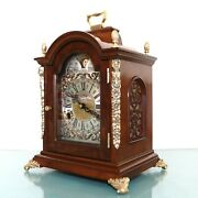 Warmink Mantel Clock Vintage Top Dutch Moonphase High Gloss Double Bell Chime