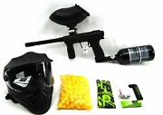 Planet Eclipse Emek 100 Paintball Package 200 Rd Loader Paintballs 48/3000 Tank