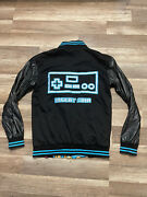 Game Over Nintendo Mario Gaming Pink City Reversible Jacket Size Small