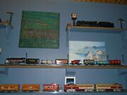 Marx Tin Train 1940 Marlines Set And Box High Collector Grade Condition Truck Car