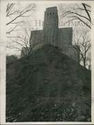 1962 Press Photo Dirt Piled Outside State Office Building In Albany New York
