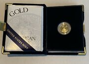 2003 W American Eagle 5 1/10 Oz. Proof Gold Coin With Box And Coa One Tenth Ounce