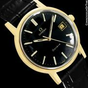 1973 Omega Geneve Vintage Mens 18k Gold Plated Watch - Mint With Warranty