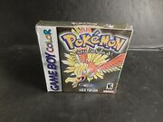 Rare Pokemon Gold Version Game Boy Color New In Box Factory Sealed Never Opened