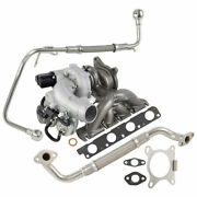 For Audi And Vw 2.0t Bpy New Turbo Kit With Turbocharger Gaskets And Oil Line Tcp