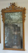 18 Cent.antique French Giltwood Mirror C. 1760s