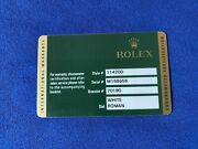 Rolex Warranty Guarantee Card For A M Serial Oyster Perpetual 114200