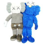 Kaws Cowes Seeing Watching Limited Plush Toy Ash Size Free