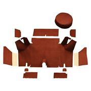 For Ford Mustang 65-66 Cargo Area Carpet Essex Replacement Die Cut Red Complete