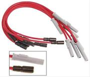Msd Spark Plug Wires Spiral Core 8.5mm Red Multi-angle Boots Gmc 454 Set 32109