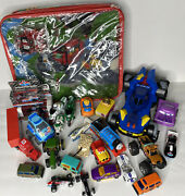 Junk Drawer Toy Car Lot -26 Items Assorted Items Hot Wheel Matchbox Cars And More
