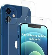 Compatible With Iphone 12 Mini 5 4 Inch Front And Back Screen Protector Tempered