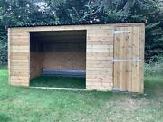 Animal Wooden Field Shelter With Lockable Storage