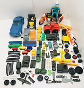 Vintage Toys Lot Tanks Trains Parts Rare 1960-1970andrsquos The Bottom Of The Toy Chest