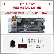 Benchtop Mini Metal Lathe Cutter For Metal And Woodworking 8x16 1100w 2250rpm