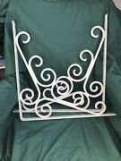 Two Large Shelf Brackets Or Porch Corner Wrought Iron Designs