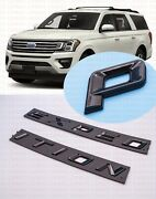 Gloss Black Front Hood Expedition Letters Emblem Fit 2018-2022 Ford Expedition