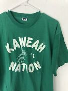 Vintage 70s Champion Blue Bar T-shirt Native American Heritage Culture Xl Green