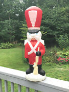 Vintage Empire 34 Hard To Find Christmas Toy Soldier With Rifle Blow Mold