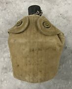 Vintage World War 2 Canteen Us With Case And Cup