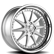 Set Of 4 Csl-1 Rennen Wheels Silver Brushed With Chrome Step Lip